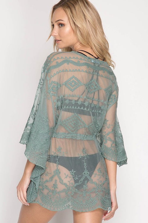 Aztec Swim Cover Up Dress