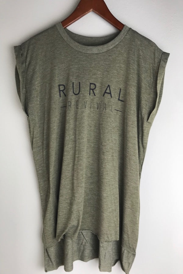 Rural Revival Roll Cuff Tee
