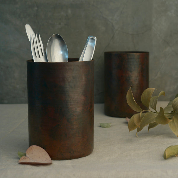 Copper Utensil Holder