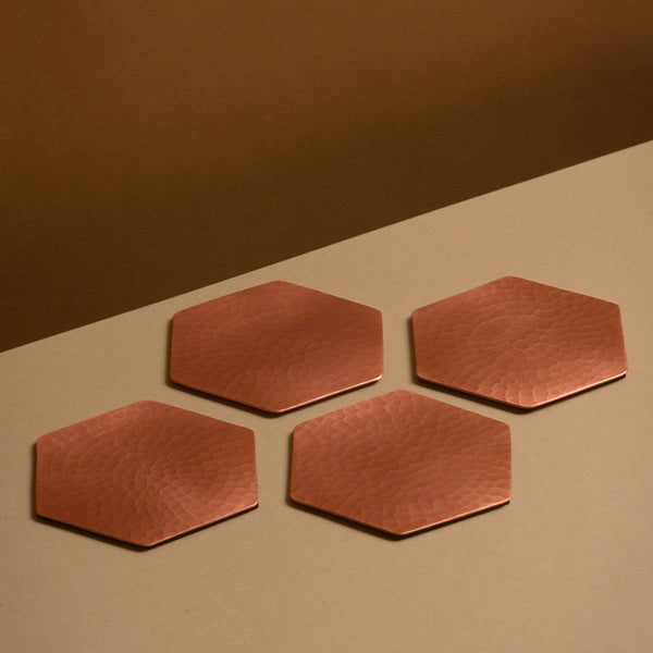 Copper Coasters | Hexagonal