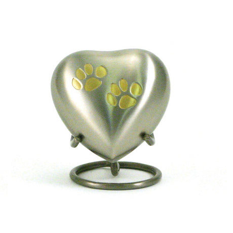 Odyssey Pet Paw Heart Keepsake - Pewter