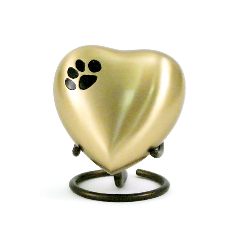 Bronze Paw Pet Heart Keepsake