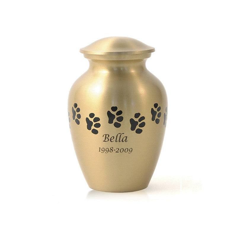Bronze Paw Cremation Urn - Small