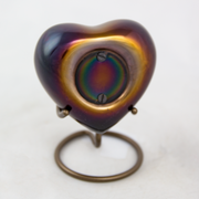 Raku Heart Pet Cremation Urn Keepsake