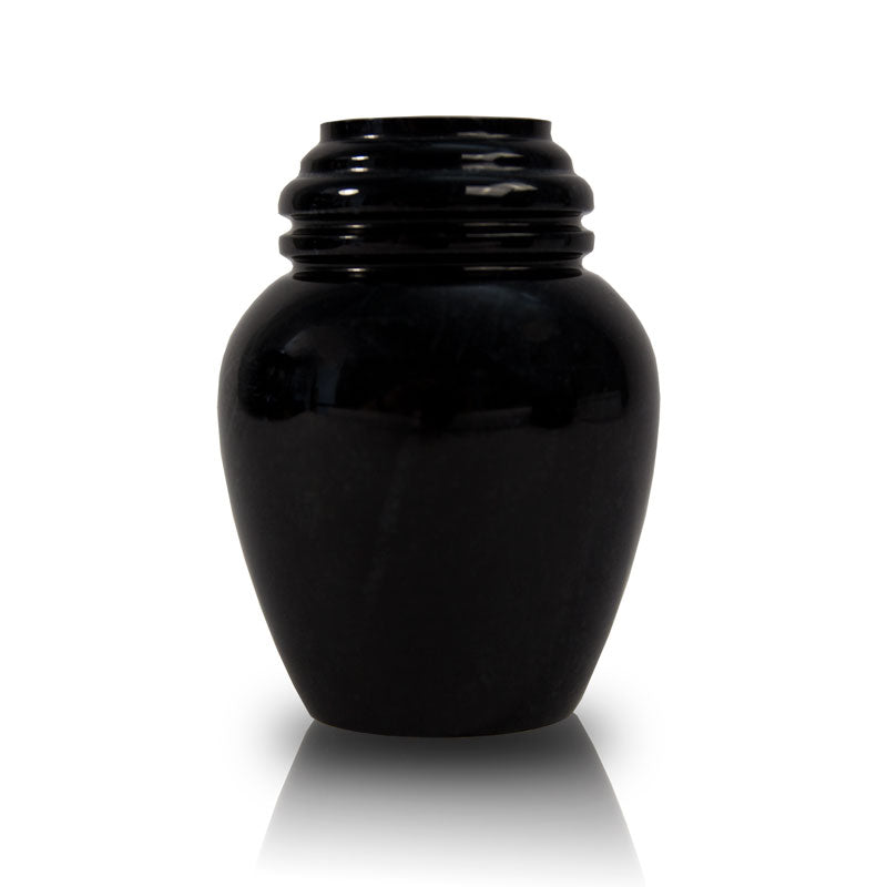 Black Marble Cremation Keepsake Urn