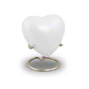 Trinity Pearl Cremation Keepsake Heart