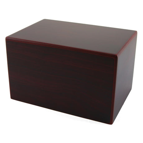 Large Adoration Cremation Urn Box 200 cubic inch - Cherry