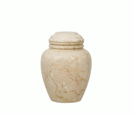 Alluvium Marble Cremation Urn - Extra Small