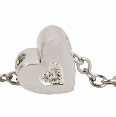 Heart Shaped Cremation Bead Charm - Sterling Silver