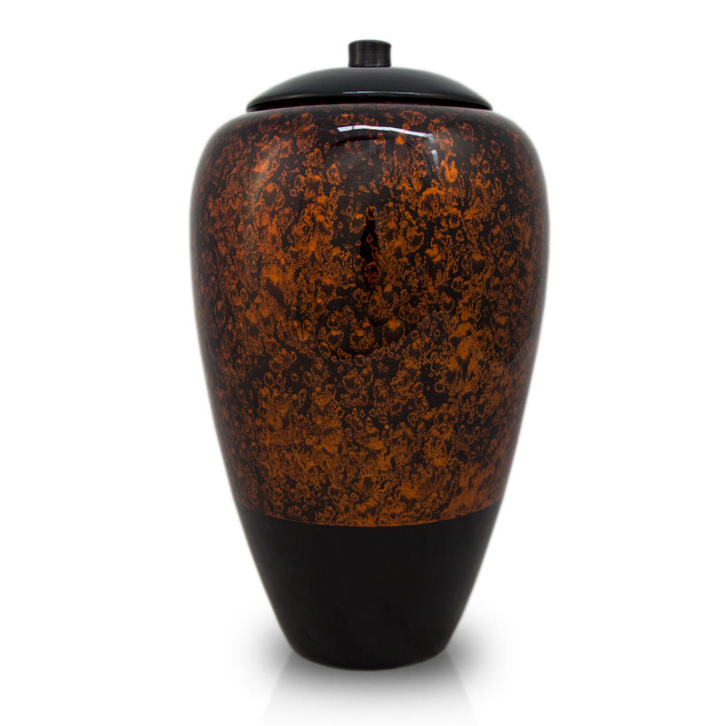 Tall Bamboo Cremation Urn- Amber