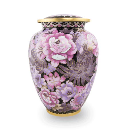 Cloisonne Pink Blush Cremation Urn - Large