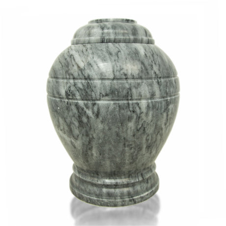 Cloud Gray Marble Cremation Urn - Large