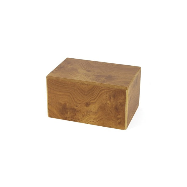 Adoration Cremation Urn Box 45 cubic inch - Natural