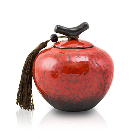 Crimson Cremation Urn for Ashes - Medium