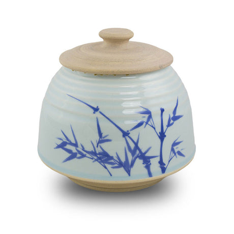 Bamboo Ceramic Cremation Urn - Large