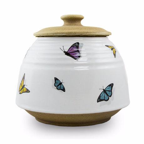 Ceramic Butterflies Cremation Urn