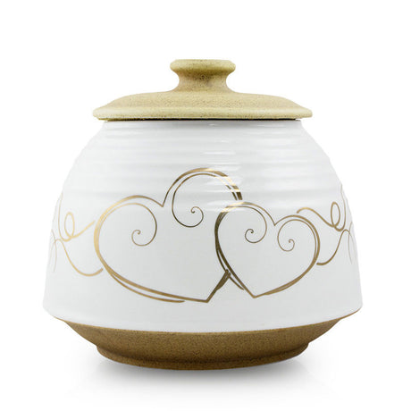 Hearts Ceramic Cremation Urn