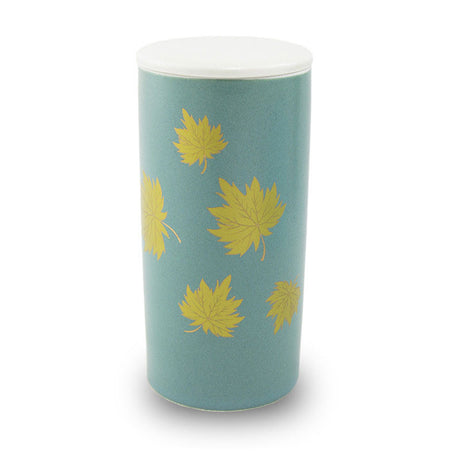 Ceramic Scattering Tube - Golden Leaves