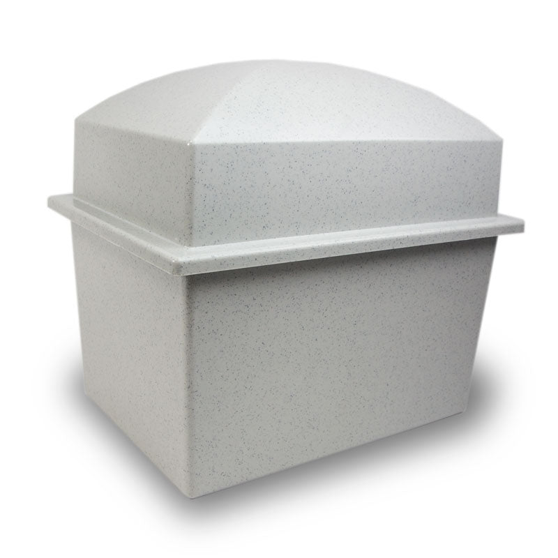 Granite Finish Cremation Urn Vault - Double