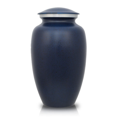 Two-Tone Dark Blue Classic Cremation Urn