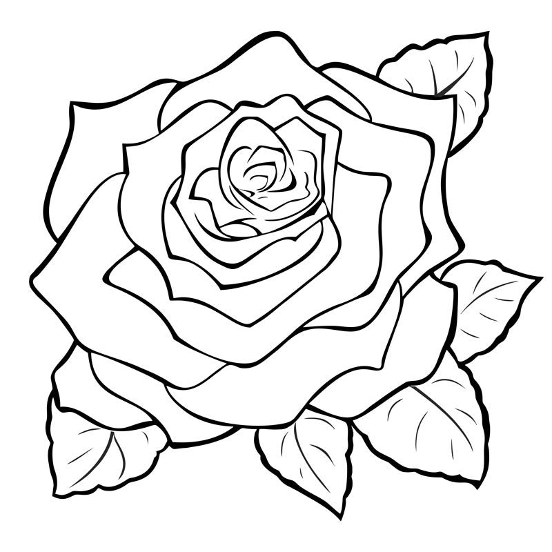 Rose Engraving- Large