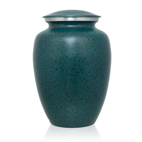 Two-Tone Green Classic Cremation Urn - Medium