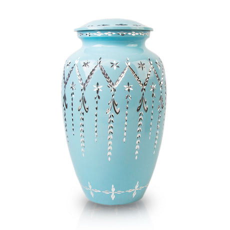 Garland Drop Cremation Urn - Blue