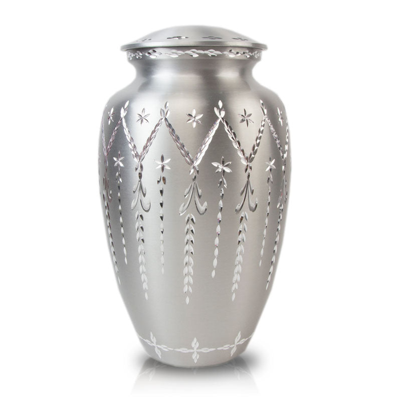 Garland Drop Cremation Urn - Pewter