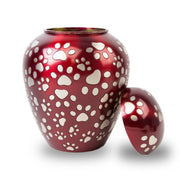 Paws of Love Pet Urn - Red