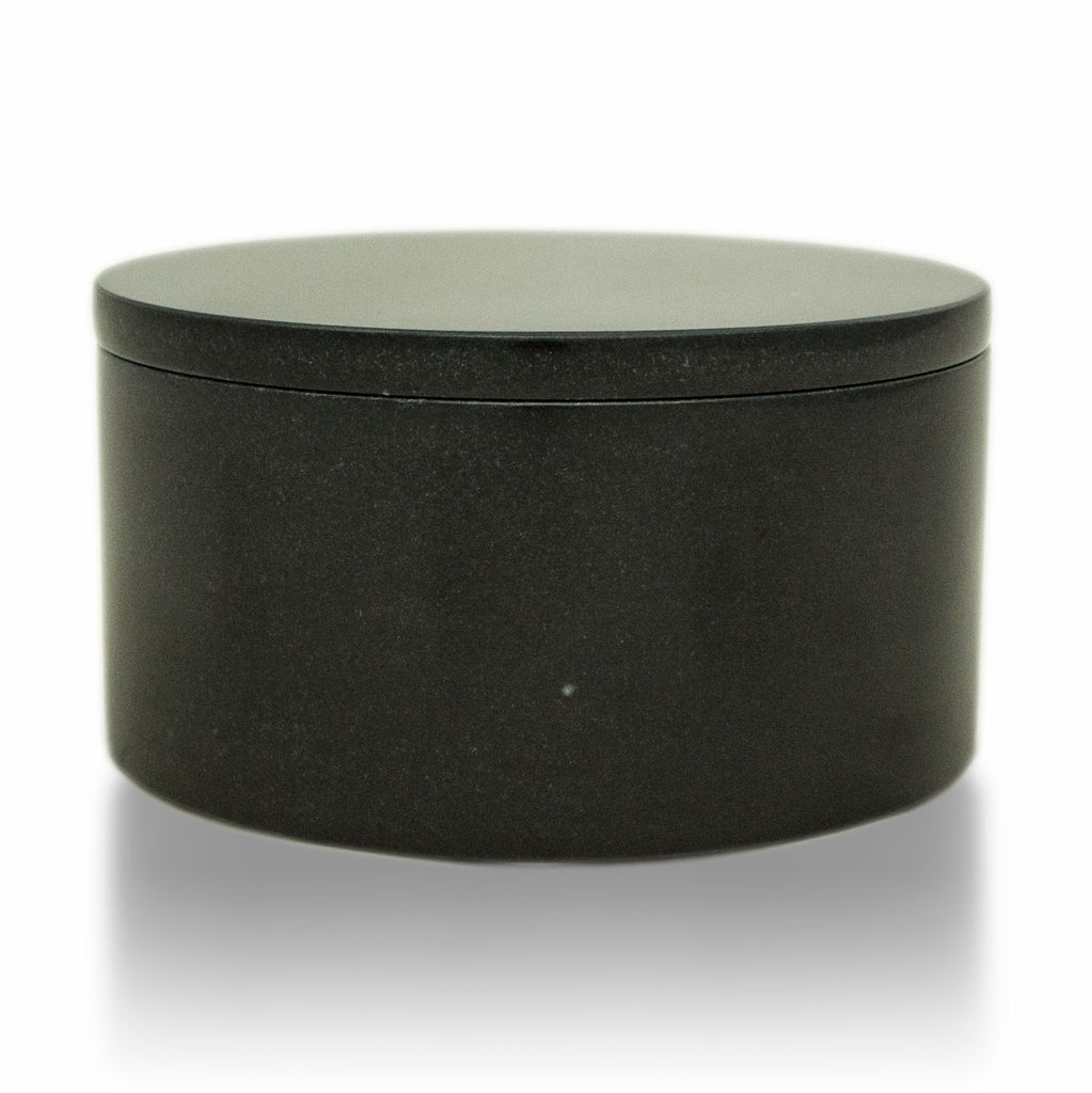 Midnight Marble Cremation Urn Circular Keepsake Box - Small