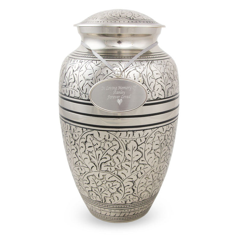 Silver Oak Cremation Urn - Large