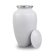 White Classic Cremation Urn