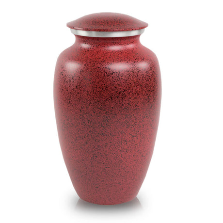 Two-Tone Red Classic Cremation Urn