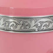 Pink Cremation Urn with Floral Band