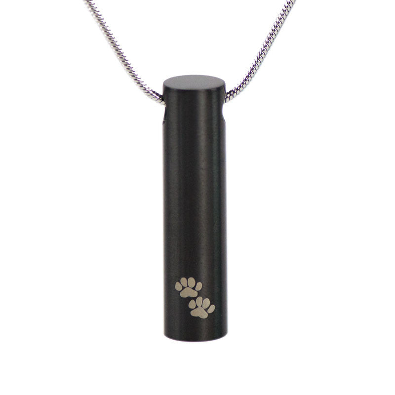 Paw Print Cremation Necklace - Slate