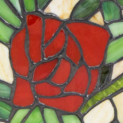 Red Rose Stained Glass Cremation Urn