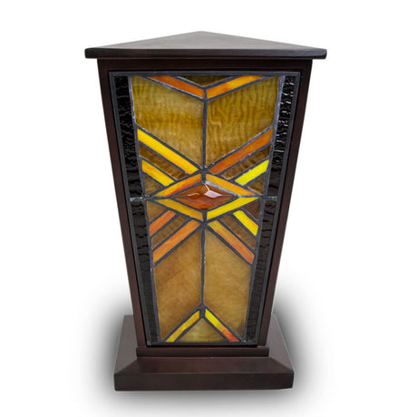 Mission Style Cremation Urn - Amber