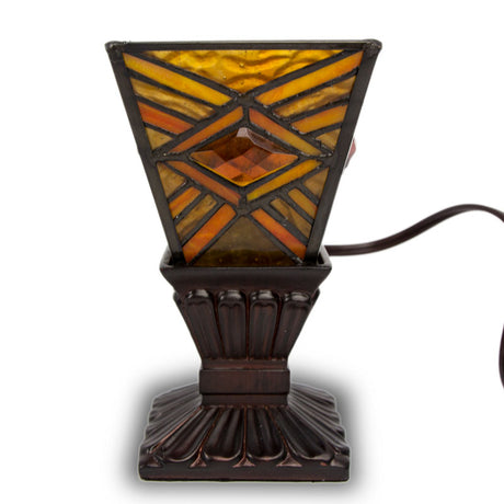 Mission Style Cremation Memory Lamp- Amber