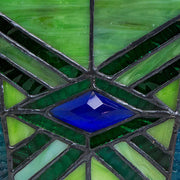 Emerald Mission Style Stained Glass Cremation Urn