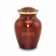 Brass Crimson Pet Cremation Urns - Extra Small