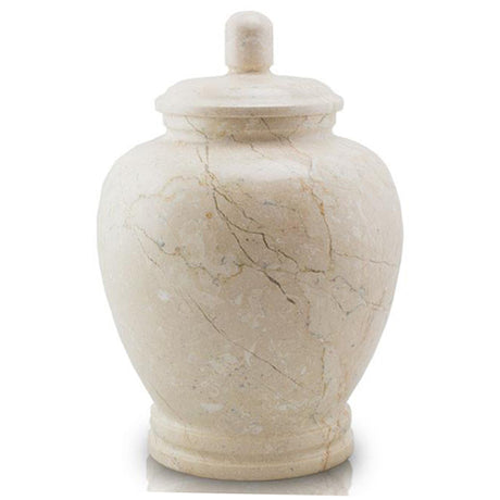Sea Shell Genuine Marble Classic Cremation Urn - Hand Carved
