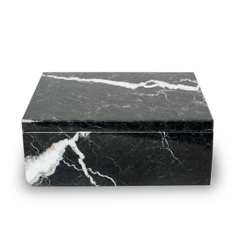 Noire Marble Cremation Urn Keepsake Box - Small