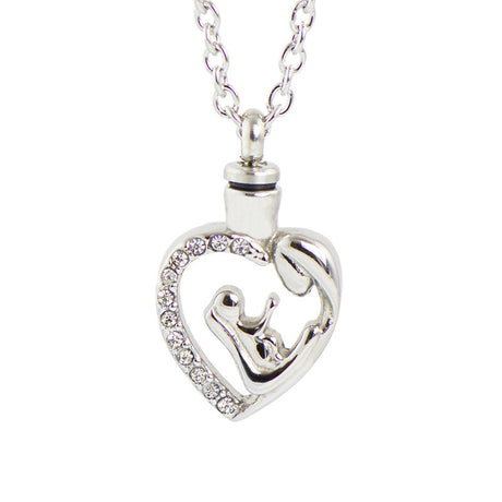 Silver Cremation Pendant - Mother and Child
