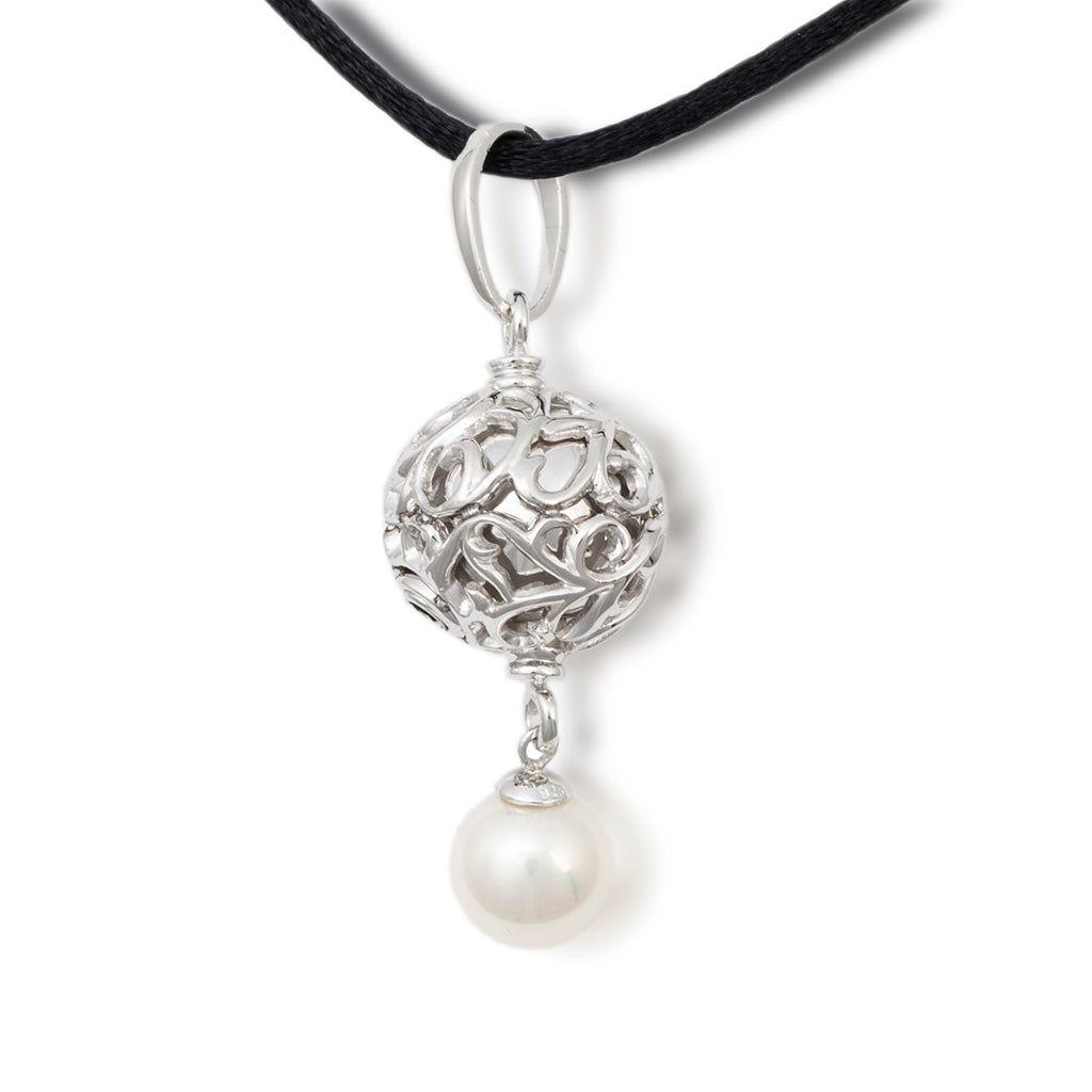 Filigree Pearl Cremation Pendant