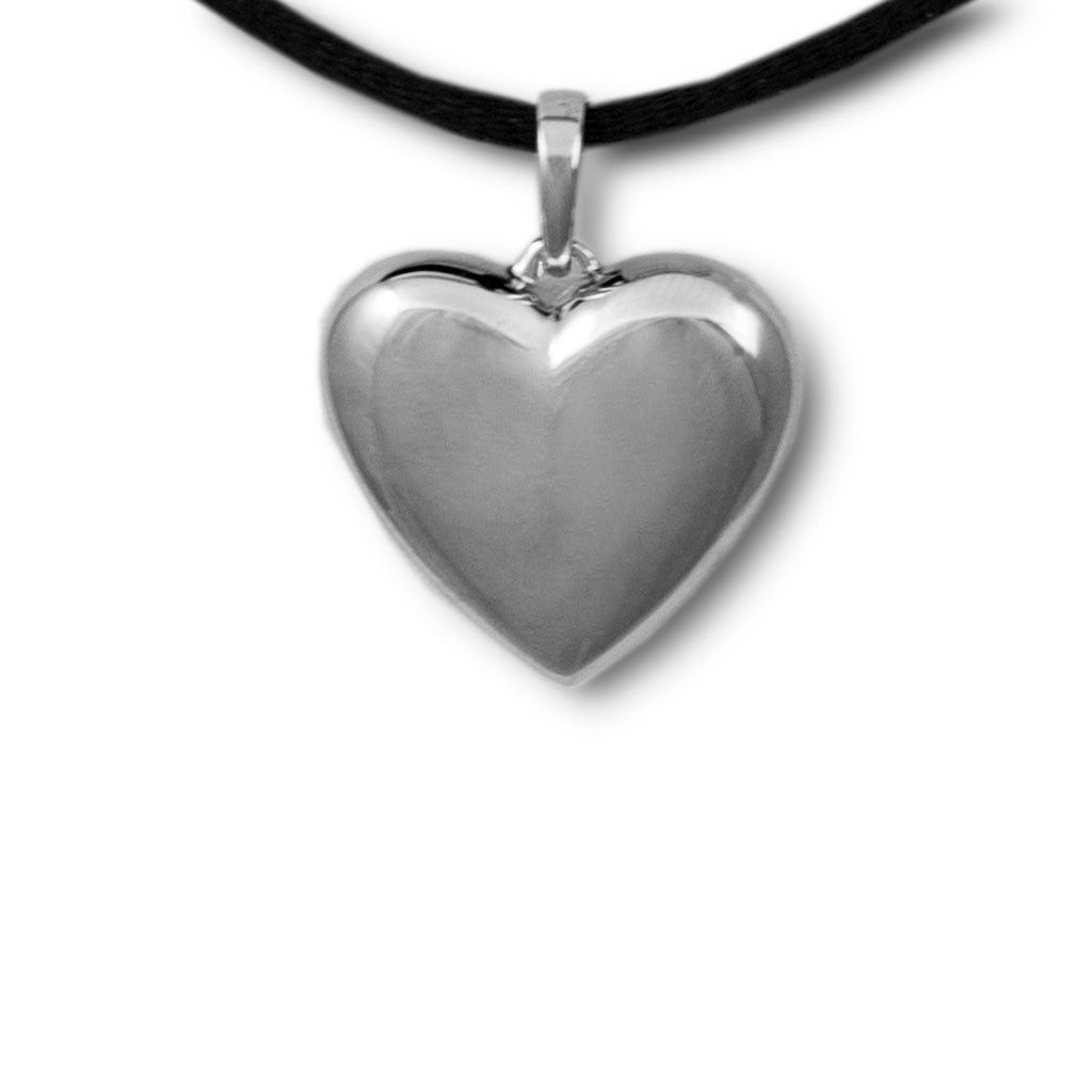 Full of Love Heart Cremation Pendant - Sterling Silver