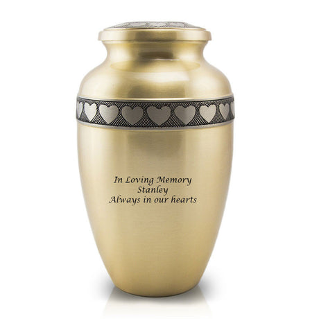 Bronze Cremation Urn - In Our Hearts