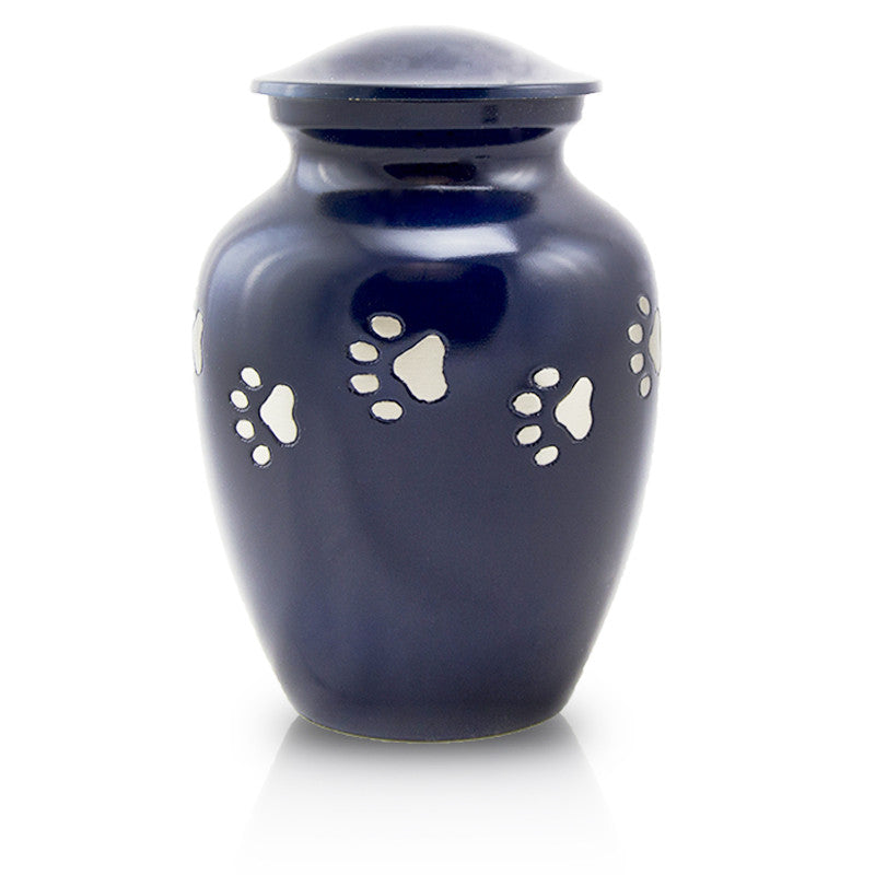 Paw Path Cremation Urn - Large Midnight Blue