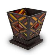Ruby Mission Style Stained Glass Cremation Candle Keepsake