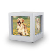 Silver Photo Cube Cremation Urn - Extra Small