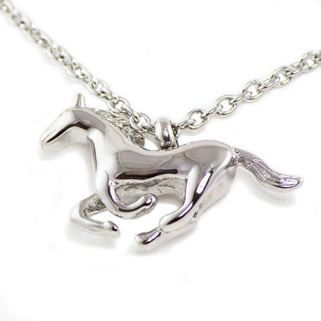 Running Horse Cremation Necklace